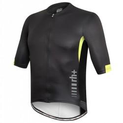 Camiseta ciclismo Zero Rh+ Shiver Hombre negro-amarillo
