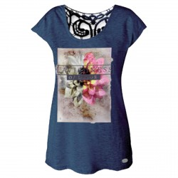 T-shirt Astrolabio CN8K Donna blu