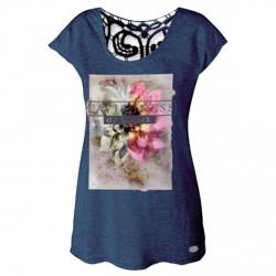 T-shirt Astrolabio CN8K Femme bleu