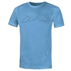T-shirt trekking Astrolabio N57N Homme respirant et léger bleu clair