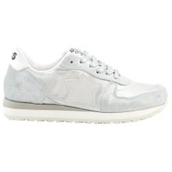 Sneakers Atlantic Stars Lynx Niña plata-blanco