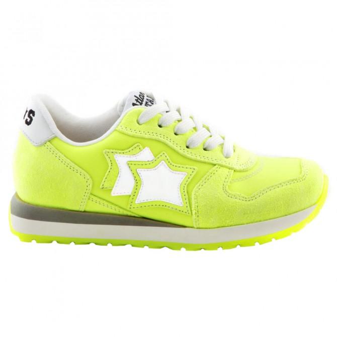 Sneakers Atlantic Stars Lynx Bambina giallo fluo