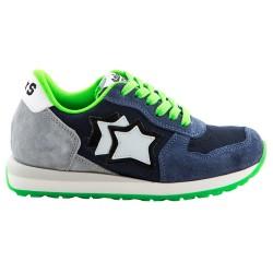 Sneakers Atlantic Stars Lynx Niño azul-verde