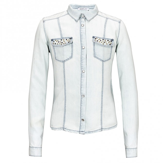 camicia denim Liu-Jo Shirt Girl
