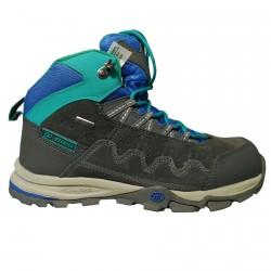 Chaussures trekking Tecnica Cyclone II Mid Tcy Junior gris-bleu-vert