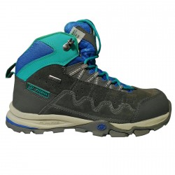 Trekking shoes Tecnica Cyclone II Mid Tcy Junior grey-blue-green
