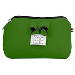 Pochette Save My Bag Fiocco piccola verde scuro