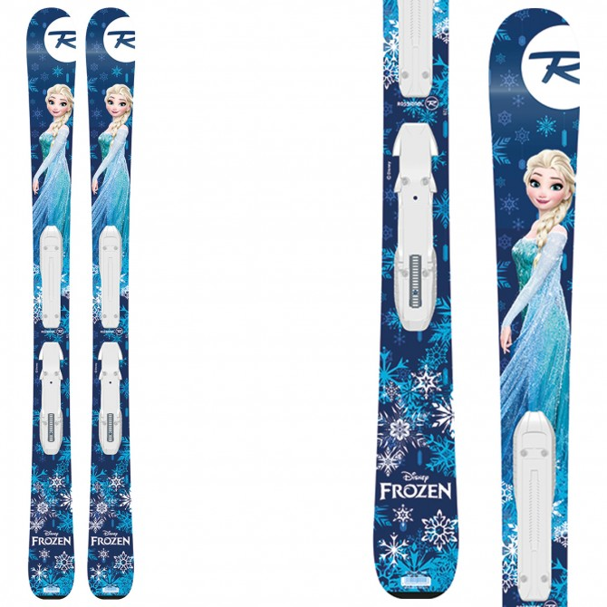 Ski Rossignol Frozen + fixations Kid-X 4 B76