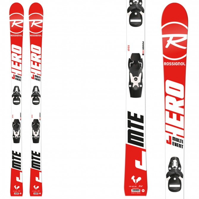 Sci Rossignol Hero Jr Multi Event + attacchi Xpress Jr 7 B83 ROSSIGNOL