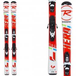 Esquí Rossignol Hero Jr 100-130 + fijaciones Kid-x 4 B76
