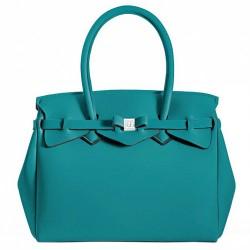 Borsa Save My Bag Miss turchese