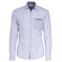 Camisa Canottieri Portofino Fill Hombre azul claro