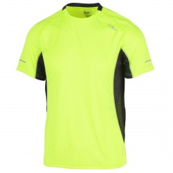 T-shirt trail running Cmp Hombre amarillo fluo