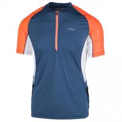 T-shirt trail running Cmp Hombre azul-naranja