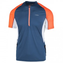 T-shirt trail running Cmp Homme bleu-orange
