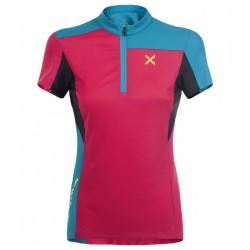 T-shirt ciclisme Montura Selce Zip Femme fuchsia