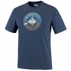 T-shirt trekking Columbia Tried and True Homme bleu