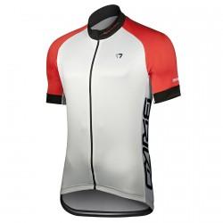 Maillot cyclisme Briko Zampillo Homme blanc-rouge