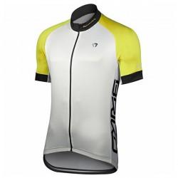 Maillot cyclisme Briko Zampillo Homme blanc-jaune