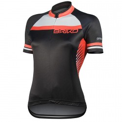 Jersey ciclismo Briko Ardente Mujer negro-coral