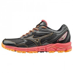 Running shoes Mizuno Wave Daichi 2 Woman black-orange