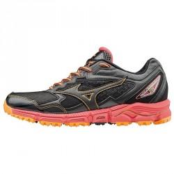 Chaussures running Mizuno Wave Daichi 2 Femme noir-orange