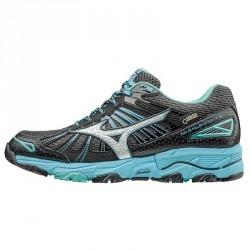 Chaussures running Mizuno Wave Mujin 3 Gtx Femme noir-bleu clair