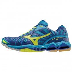 Chaussures volley-ball Mizuno Tornado X Homme bleu-lime
