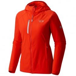 Windstopper Mountain Hardwear Super Chockstone Hooded Jacket Donna arancione
