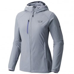 Windstopper Mountain Hardwear Super Chockstone Hooded Jacket Donna azzurro