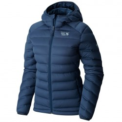 Piumino trekking Mountain Hardwear Stretchdown Hooded Donna blu