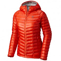 Trekking down jacket Mountain Hardwear Ghost Whisperer Hooded Woman orange