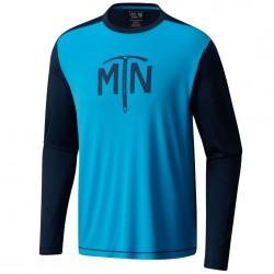 T-shirt trekking Mountain Hardwear Wicked Logo Long Sleeve Homme azul