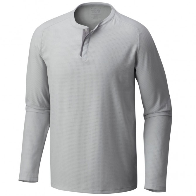 T-shirt trekking Mountain Hardwear MHW AC Long Sleeve Hombre gris