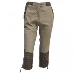 Pantalons trois quartes de randonnée Ande brun