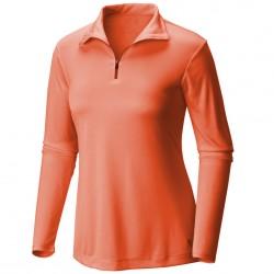 Trekking t-shirt Mountain Hardwear Wicked Long Sleeve Zip Woman orange