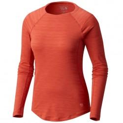 Trekking t-shirt Mountain Hardwear Mighty Stripe Long Sleeve Woman orange