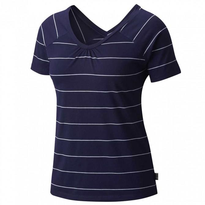 T-shirt trekking Mountain Hardwear DrySpun Stripe Donna blu