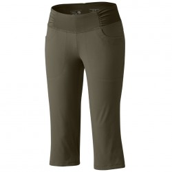 Pantaloni capri trekking Mountain Hardwear Dynama Donna verde