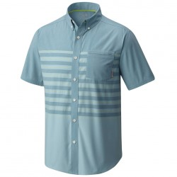 Camisa trekking Mountain Hardwear Axton Hombre azul claro