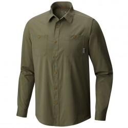 Camisa trekking Mountain Hardwear Air Tech Long Sleeve Hombre verde