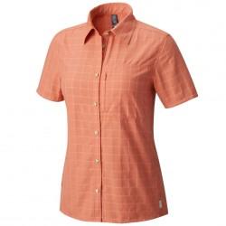 Trekking shirt Mountain Hardwear Canyon AC Short Sleeve Woman orange