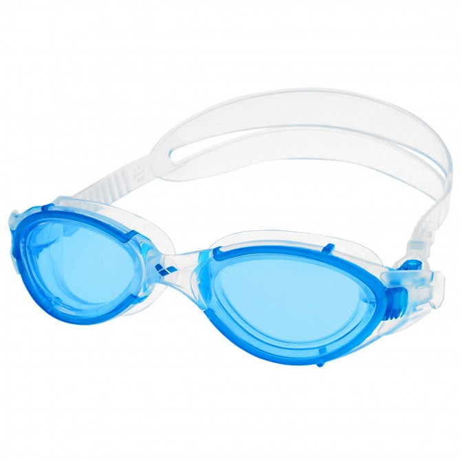 Occhialini piscina Arena Nimesis bianco-blu