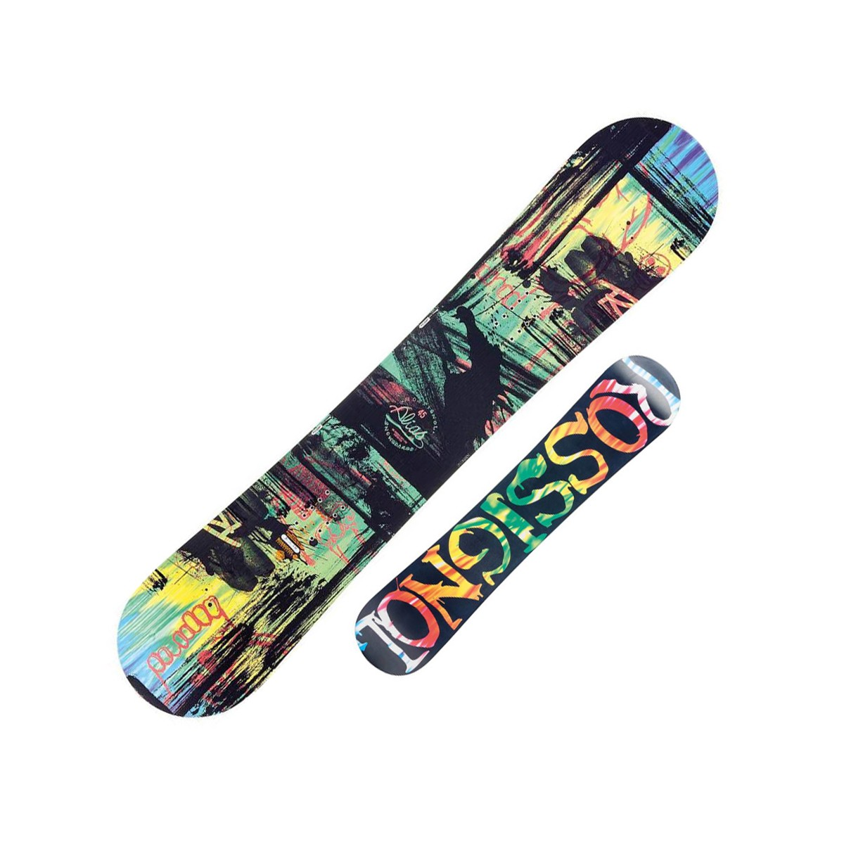 Snowboard Rossignol Alias Amptek (Colore: nero-verde, Taglia: 145)