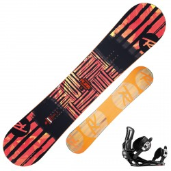 Snowboard Rossignol Alias + fijaciones Battle M/L