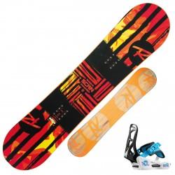 Snowboard Rossignol Scan + attacchi Rookie S rosso-nero