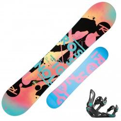 Snowboard Rossignol Tesla + bindings Voodoo S/M