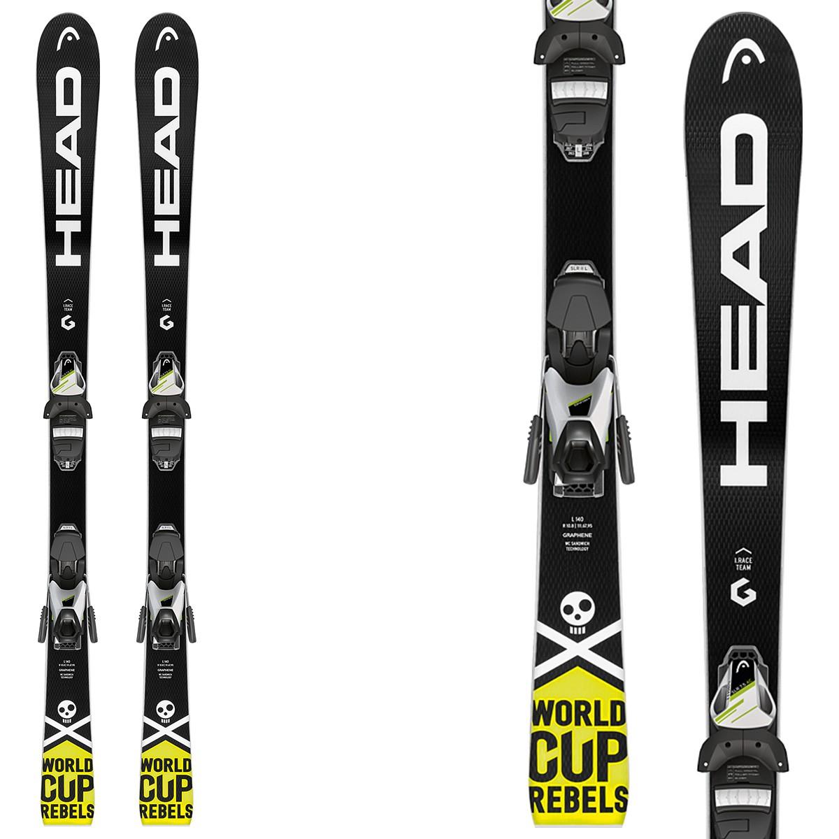 Sci Head WC iRace Team SLR 2 + attacchi SLR 7.5 AC BR 78 (Colore: nero-giallo, Taglia: 120)
