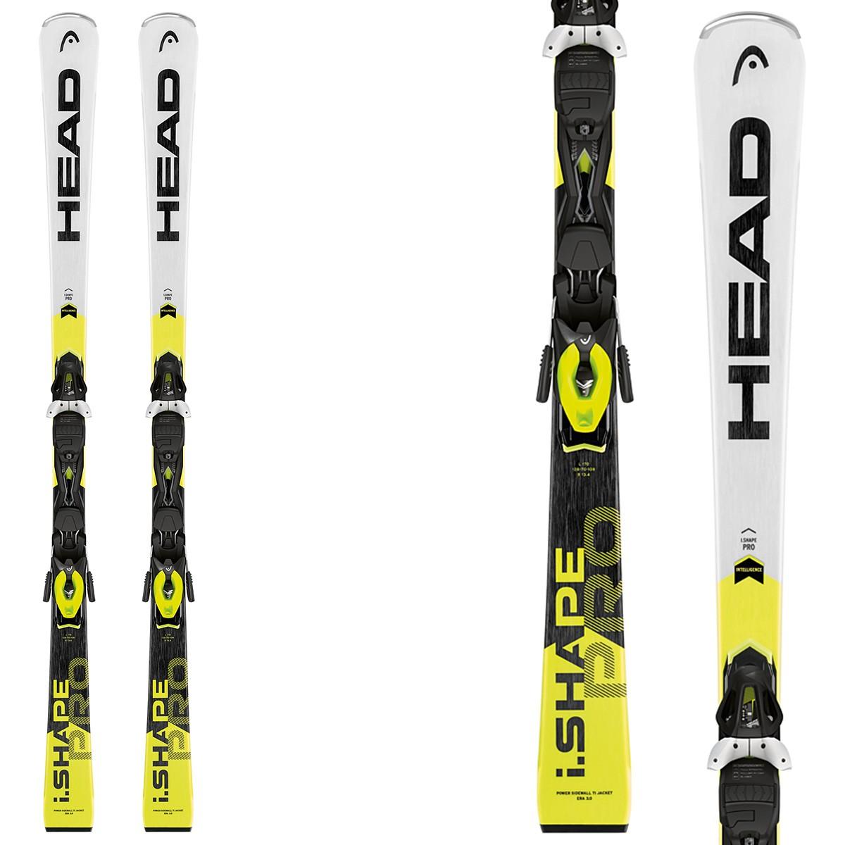 Sci Head WC Rebels iShape Pro + attacchi PR11 BR 85 (Colore: bianco-nero-giallo, Taglia: 149)