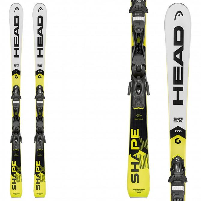 Ski head shape sx bindings pr brake race carve skis